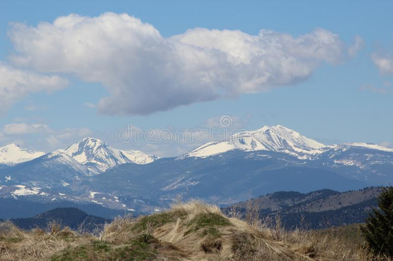 Mountain landscape, Butte, Montana royalty free stock photos