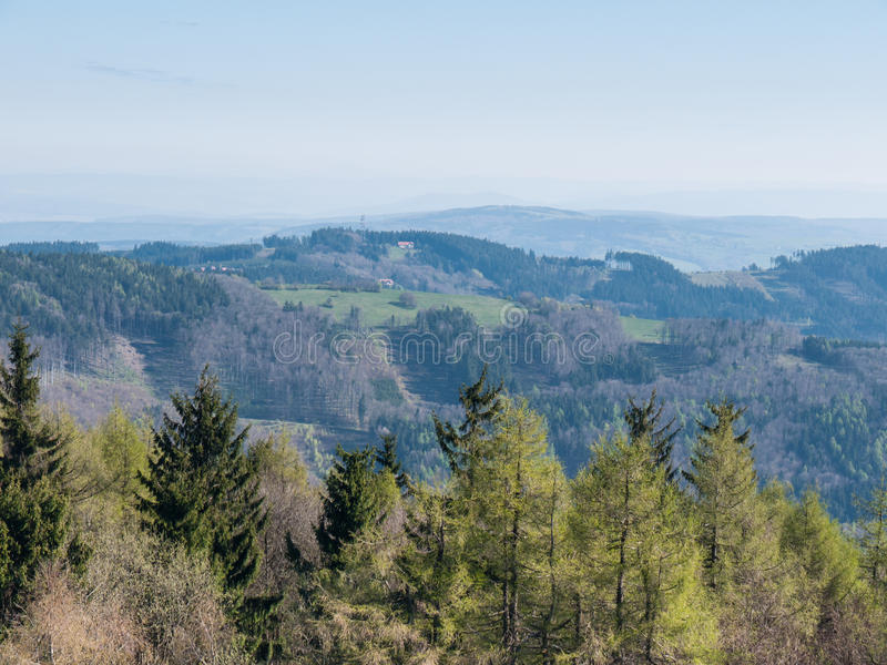 Mountain landscape in Carpathians royalty free stock photos