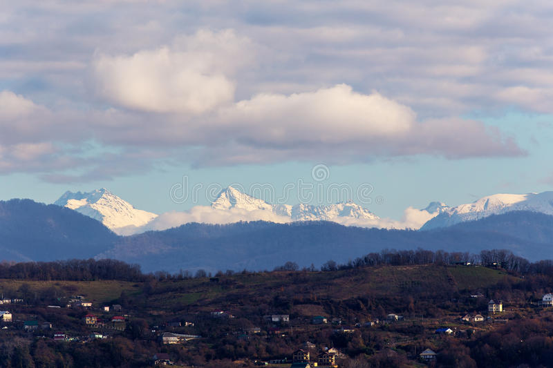 Mountain landscape in the Caucasus royalty free stock image