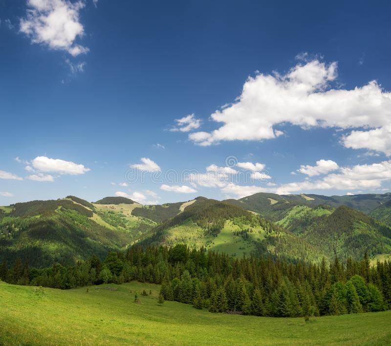 Mountain landscape in the day time stock photography