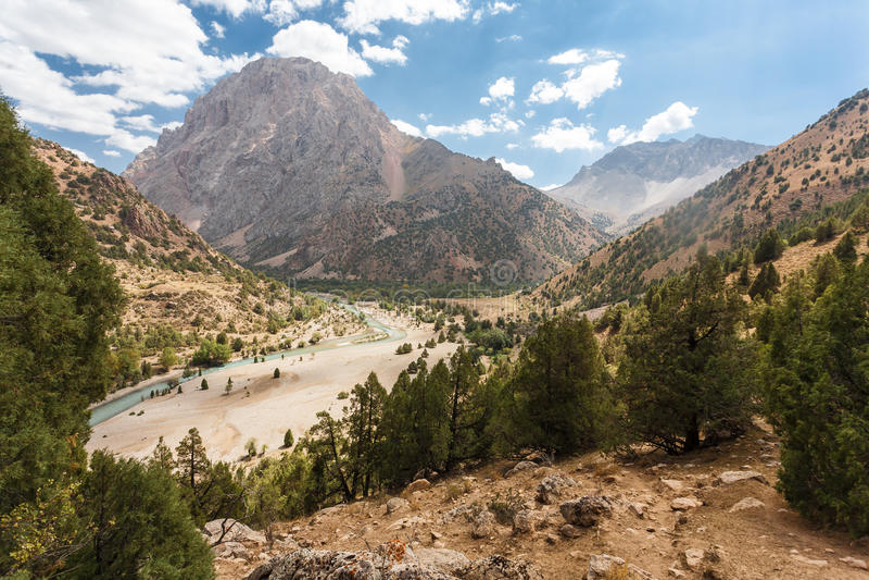 Mountain landscape. Mountain landscape in fann mountains, Tajikistan stock photos