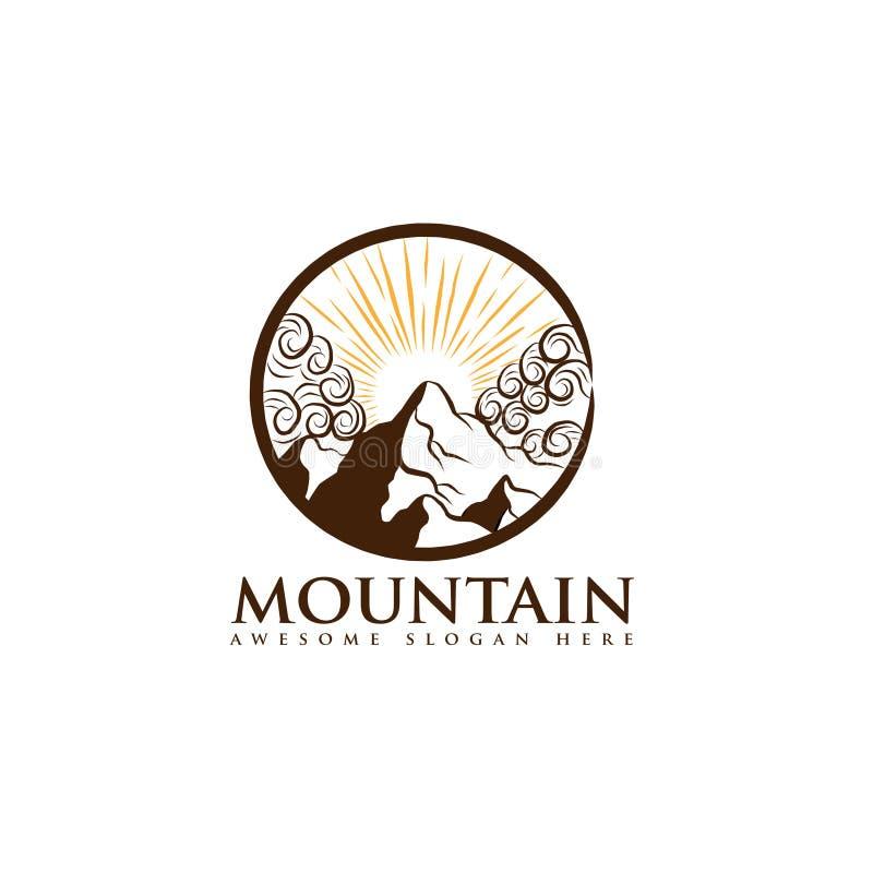 Mountain landscape icon Logo Business Template Vector, shape of the mountain line logo vector, logo app vector illustration