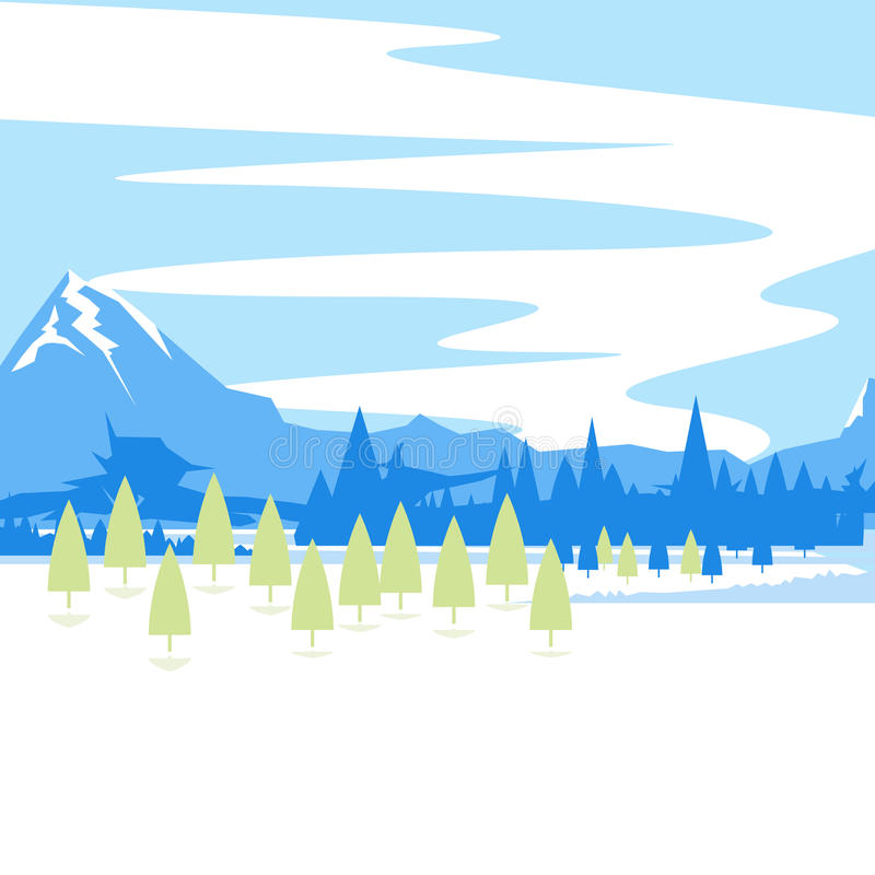 Mountain Landscape royalty free illustration