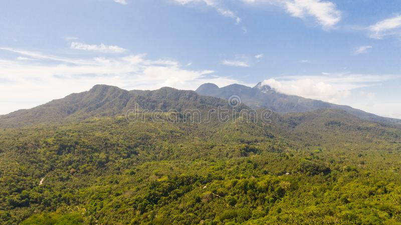 Mountain landscape on the island of Camiguin, Philippines. Volcanoes and forest. Hibok-Hibok Volcano royalty free stock images