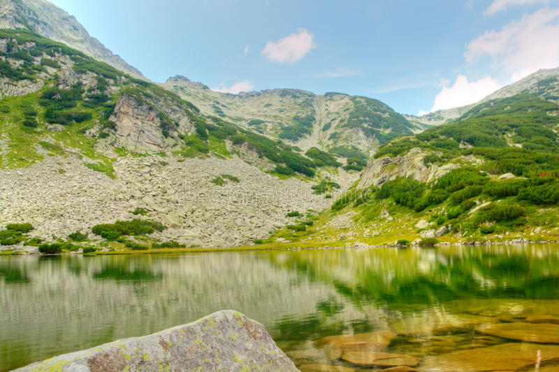 Mountain landscape with lake royalty free stock images
