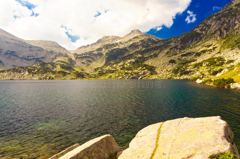 Mountain landscape with lake royalty free stock photo