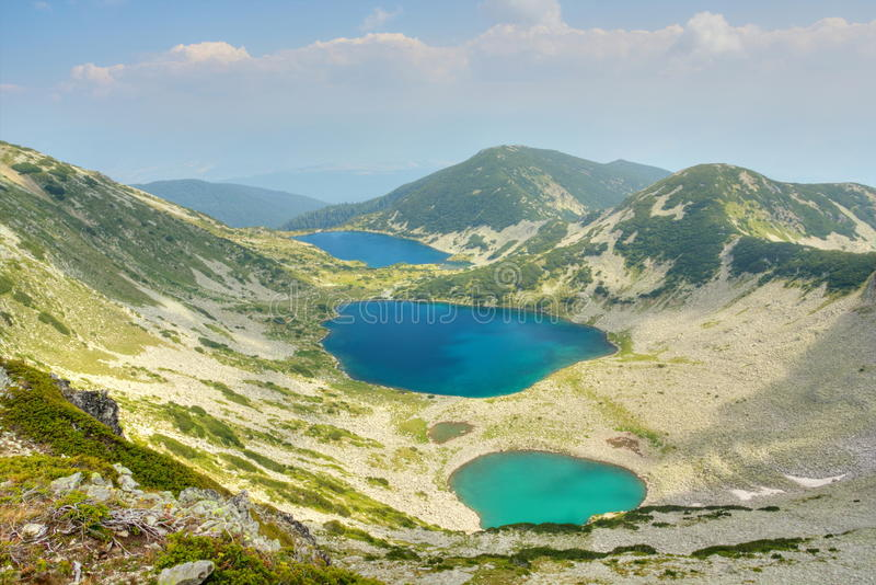 Mountain landscape with lakes stock image