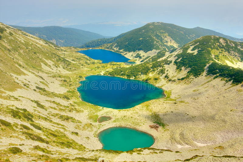 Mountain landscape with lakes royalty free stock image