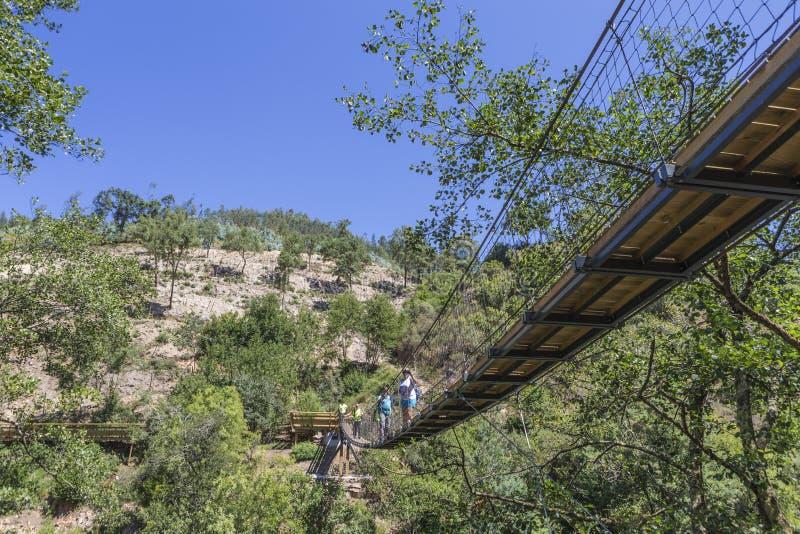 Suspension bridge royalty free stock images