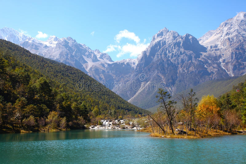 Mountain landscape in Lijiang, China. stock image