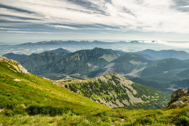 Mountain landscape in Low Tatras. Slovakia stock images