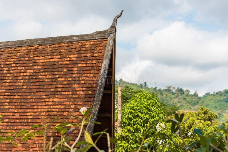 Mountain landscape in Luang Prabang, Laos. Copy space for text. Mountain landscape in Luang Prabang, Laos. Copy space for text stock photo