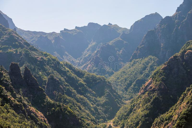 Mountain landscape from Madeira royalty free stock images