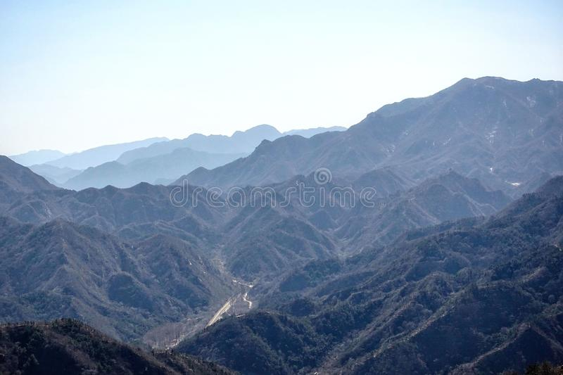 Mountain landscape near the Great Wall of China. Mountain landscape near the Great Wall of China royalty free stock photography