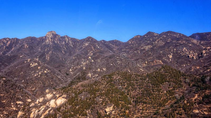 Mountain landscape near the Great Wall of China.  royalty free stock images