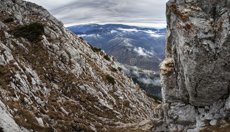 Mountain landscape panoram stock photos