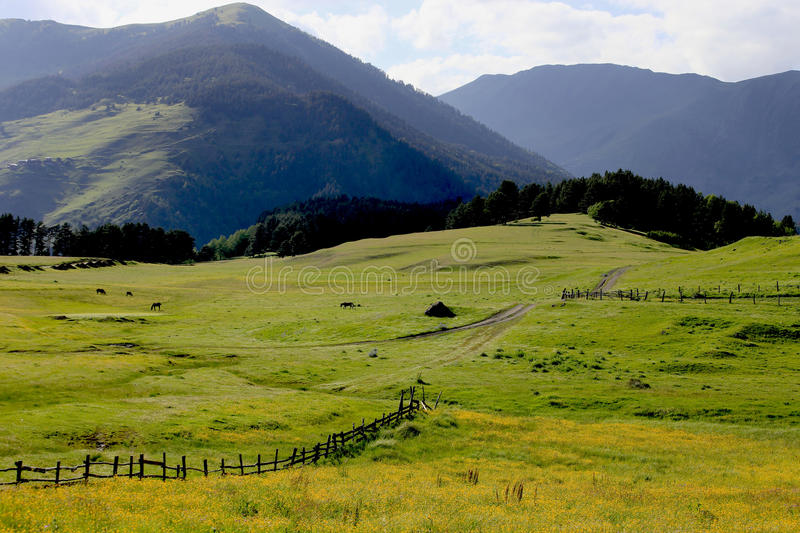 Mountain landscape panorama, beauty of nature. royalty free stock images