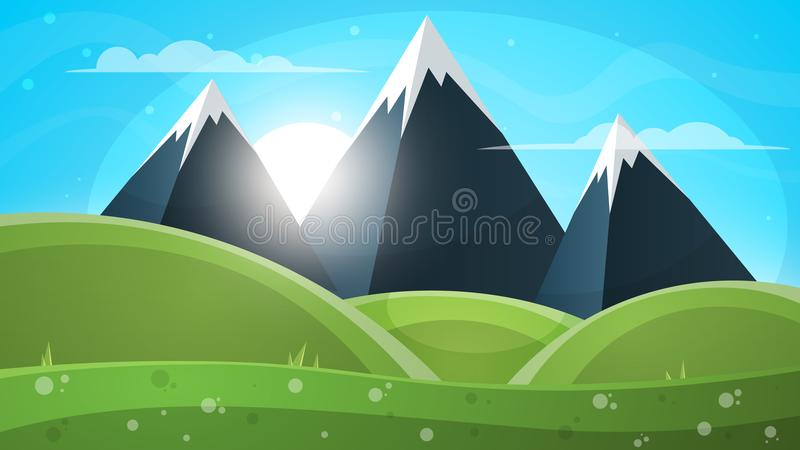 Mountain landscape. Paper illustration. stock illustration