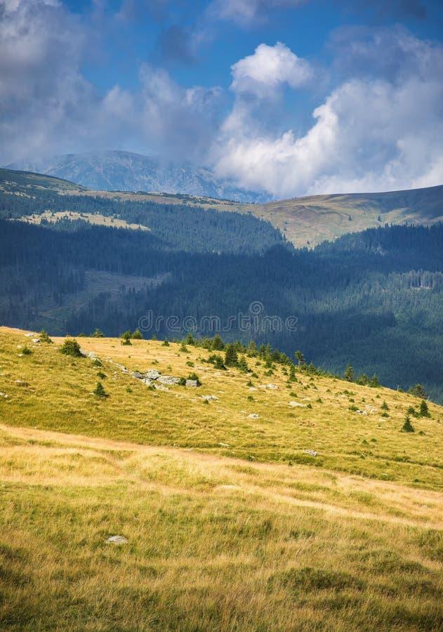 Mountain landscape in Parang Mountains, Transalpina, Romania royalty free stock image