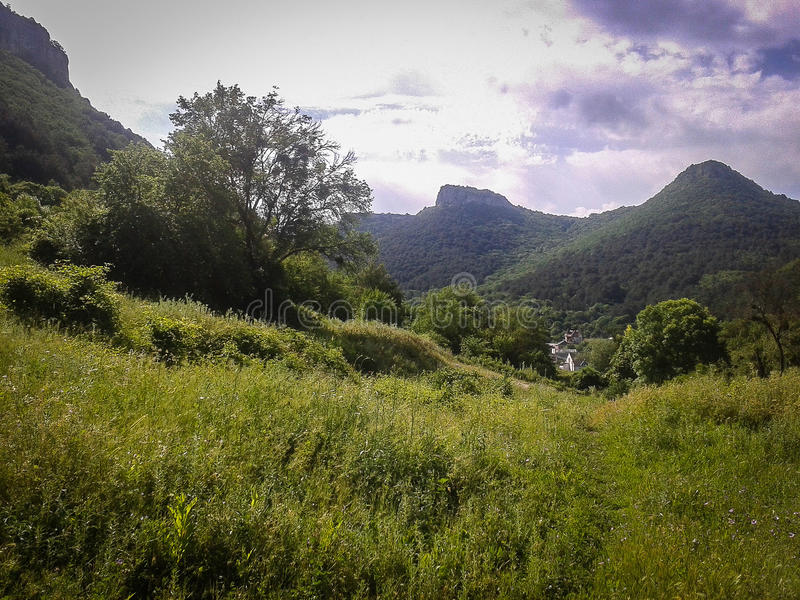 Mountain landscape on the Peninsula of Crimea. The Crimean Peninsula is one of the most beautiful places on the black sea coast. In the ancient time was royalty free stock images