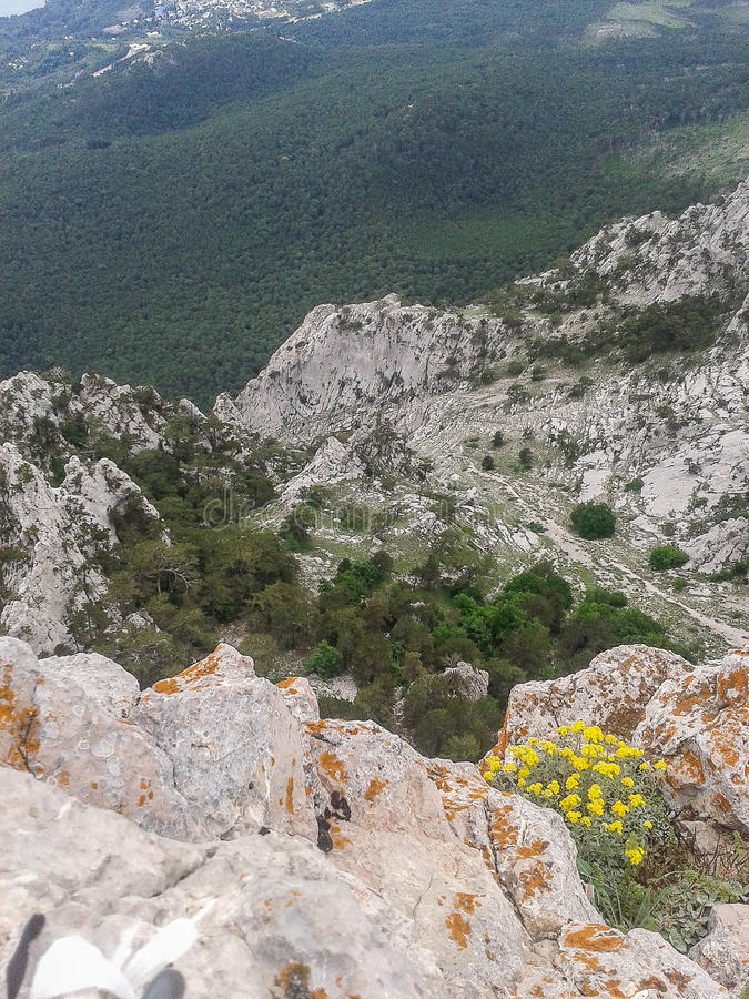 Mountain landscape on the Peninsula of Crimea. The Crimean Peninsula is one of the most beautiful places on the black sea coast. In the ancient time was stock photos
