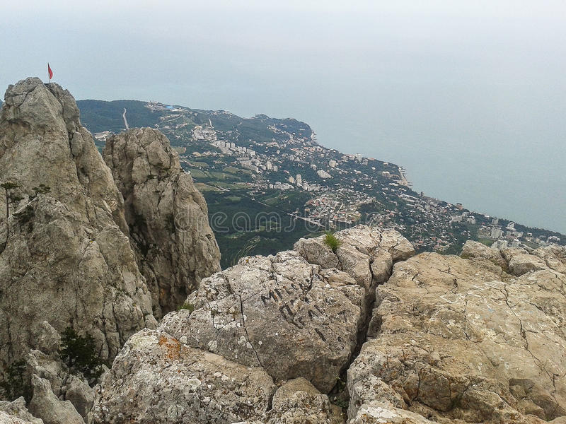 Mountain landscape on the Peninsula of Crimea. The Crimean Peninsula is one of the most beautiful places on the black sea coast. In the ancient time was royalty free stock photo