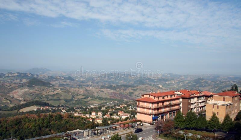 Mountain landscape of San Marino royalty free stock image