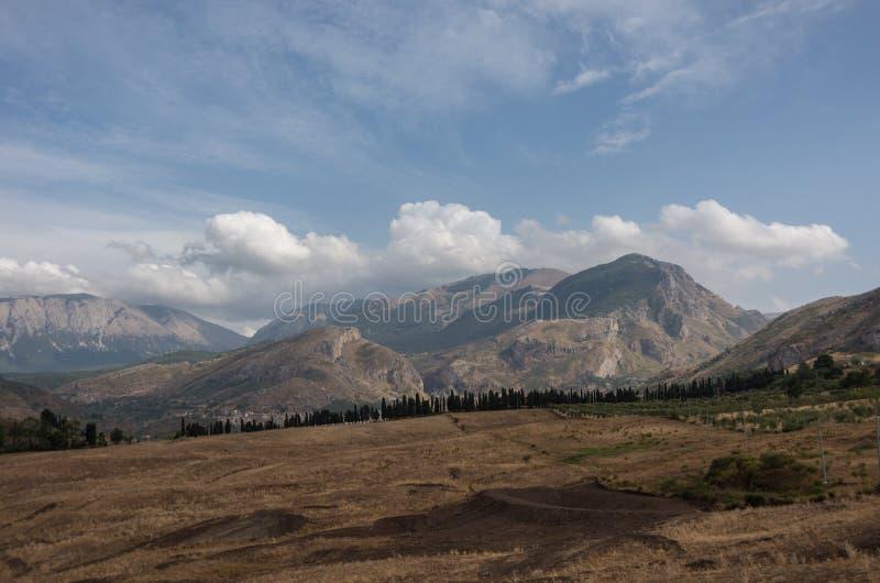 Mountain landscape of Sicily. North coast near Cefalu. Italy stock image