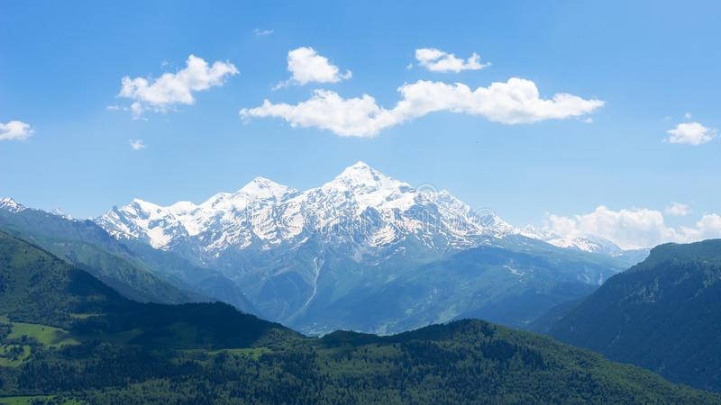 Mountain landscape. Spring in Svaneti Mountains royalty free stock photos