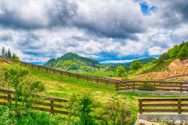 Mountain landscape in the summer time - HDR image.  stock image