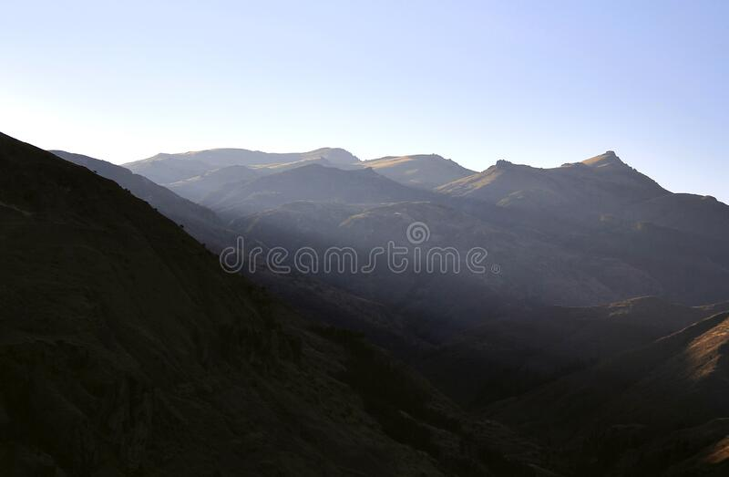 Mountain landscape on sunny day royalty free stock photos