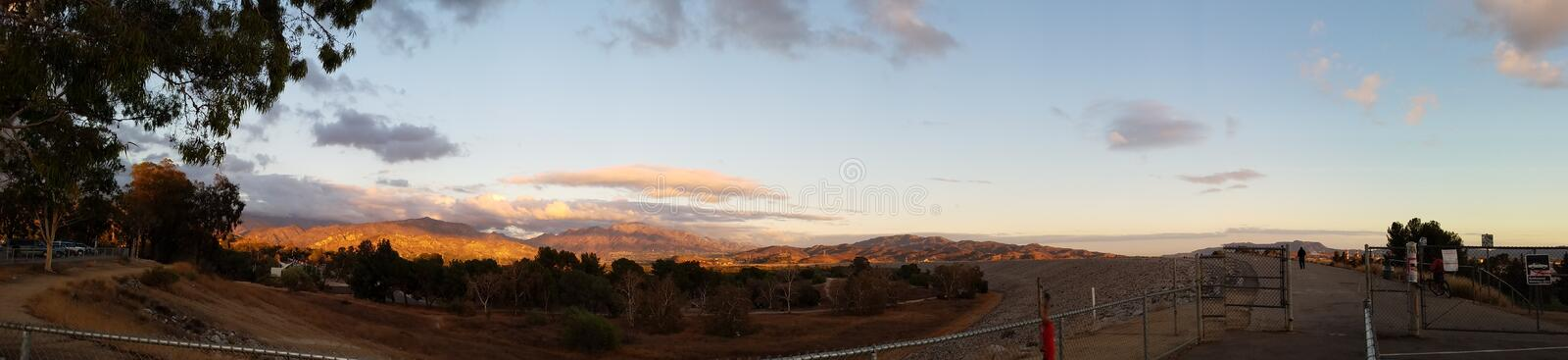 Mountain Landscape At Sunset royalty free stock photos
