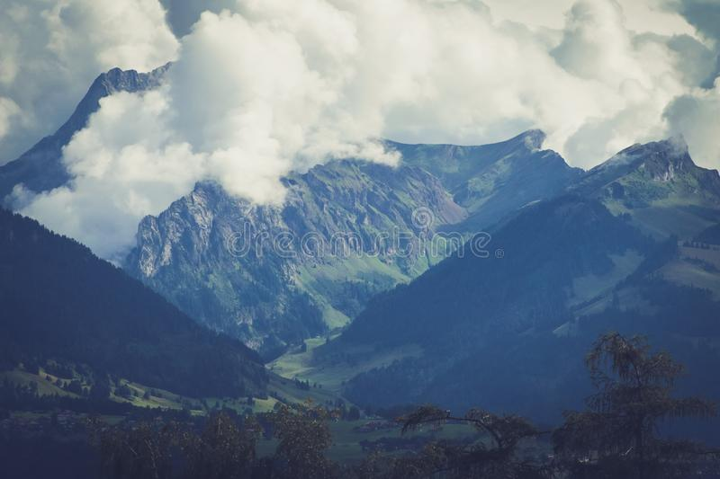 Mountain Landscape Switzerland royalty free stock photo