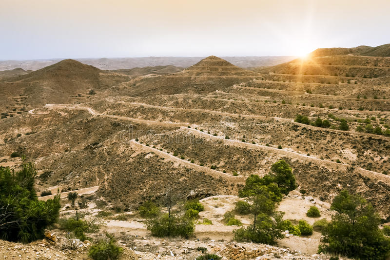 Download Mountain Landscape At The Town Matmata Stock Photo - Image: 33085596