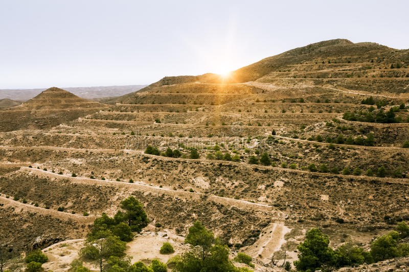 Download Mountain Landscape At The Town Matmata Stock Photo - Image: 33085600