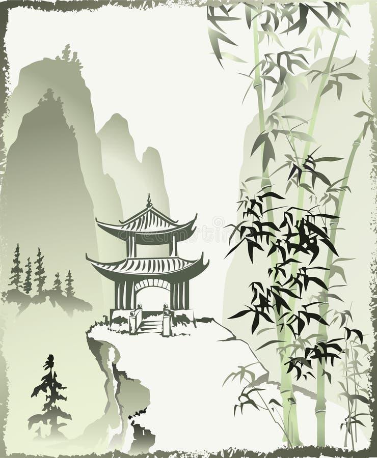 Chinese painting. stock illustration