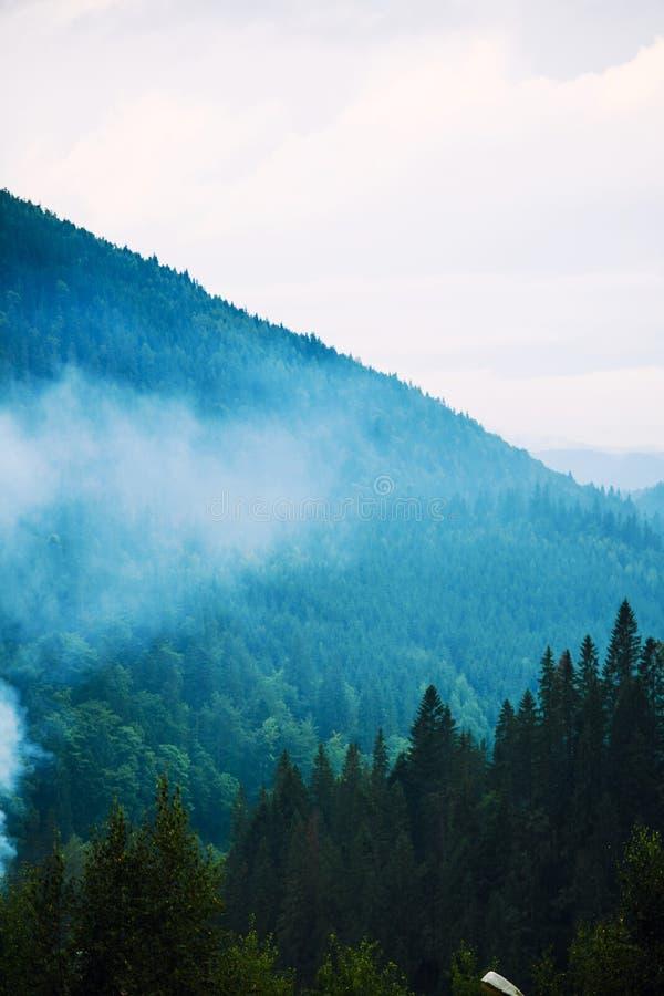 mountain landscape, Ukrainian Carpathians royalty free stock image