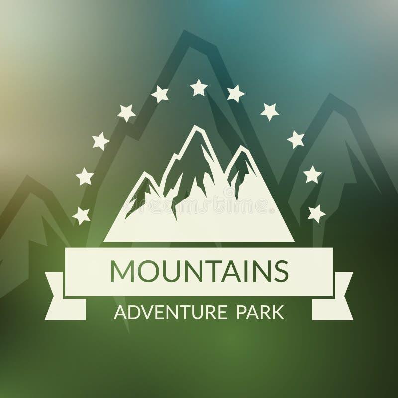 Mountain landscape vector background. Outdoor vector illustration