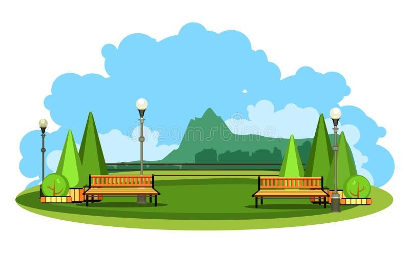 Mountain landscape vector royalty free illustration