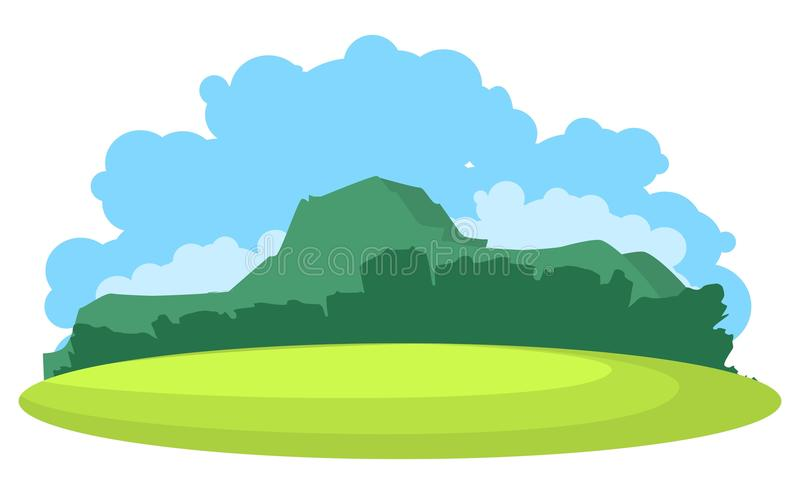 Mountain landscape vector vector illustration
