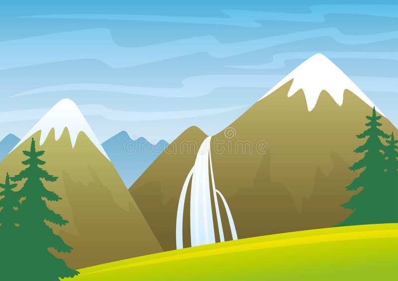 Mountain landscape. royalty free illustration