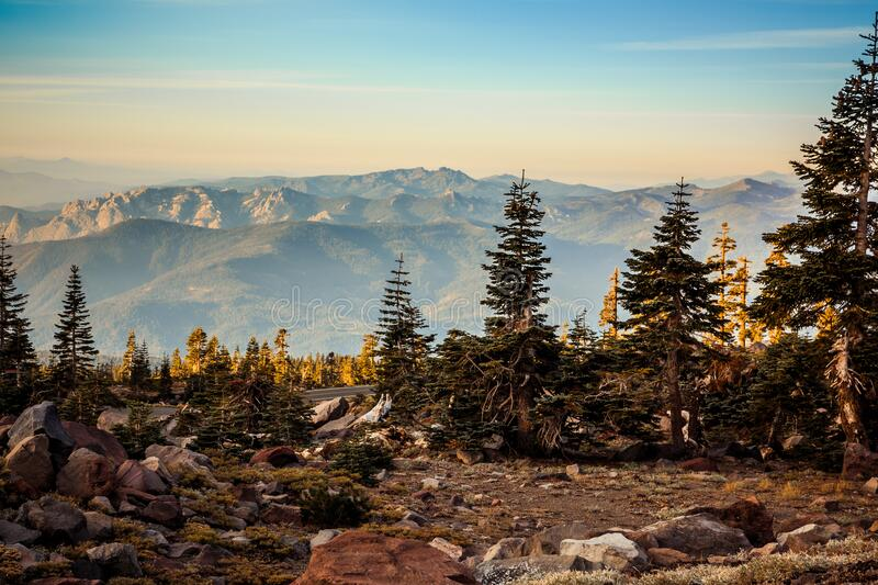 Mountain Landscape Views from Mt Shasta, Northern California. Mountain Landscape Views from Mt Shasta in Northern California royalty free stock photo