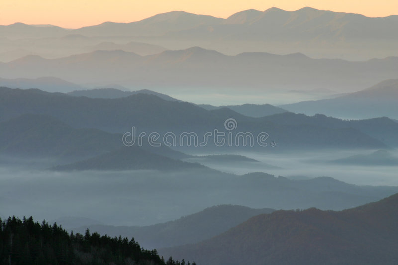 Mountain Layers- Highest point in Tennessee royalty free stock photos