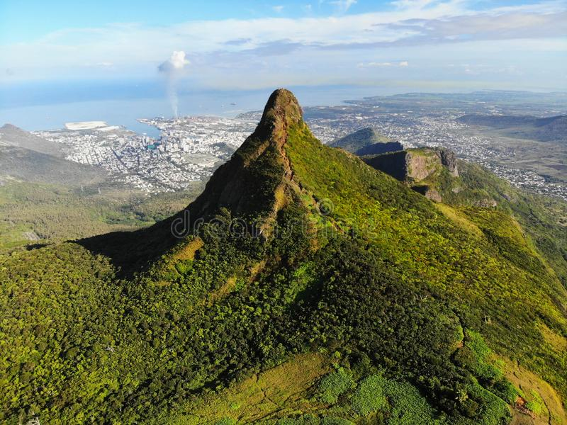 Mauritius Island, Aerial View stock photography