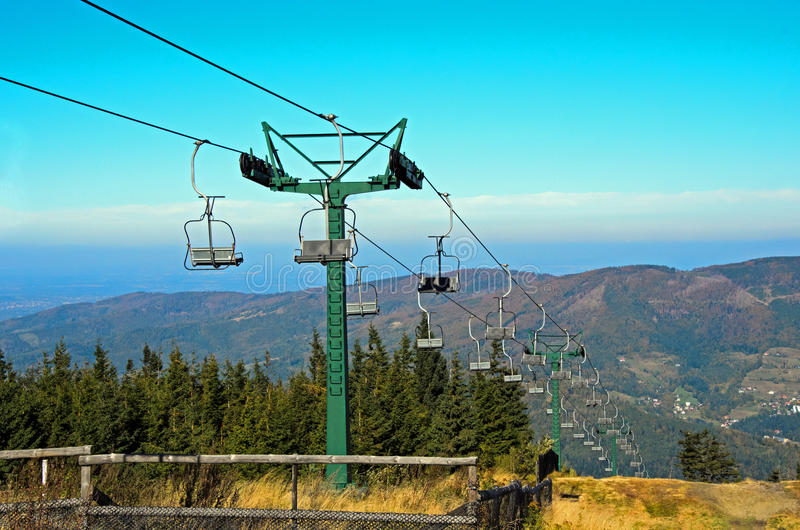 Download Mountain lift in autumn stock photo. Image of atraction - 28342136