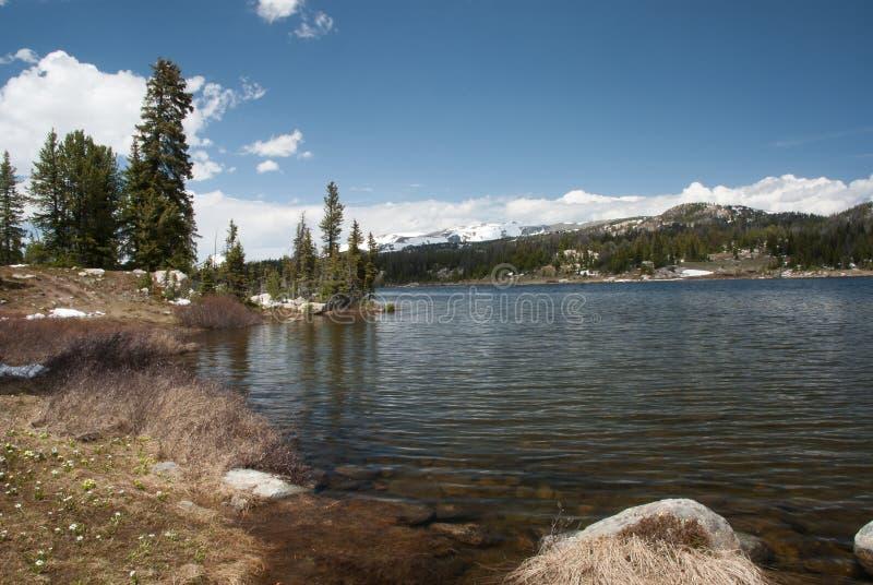 The mountain Little Bear Lake, Wyoming, USA royalty free stock image