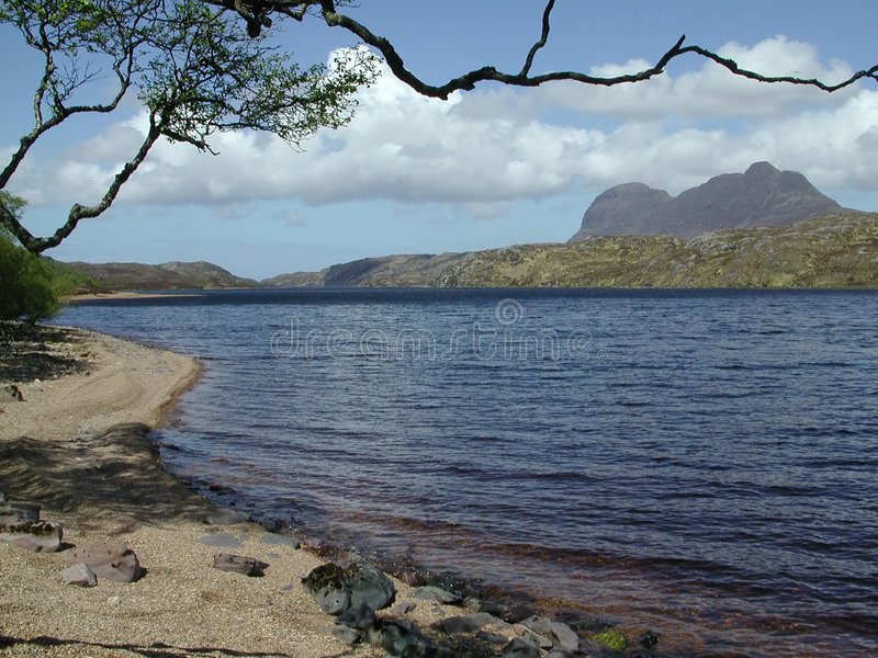 Download Mountain from lochside stock image. Image of beach, alone - 153345