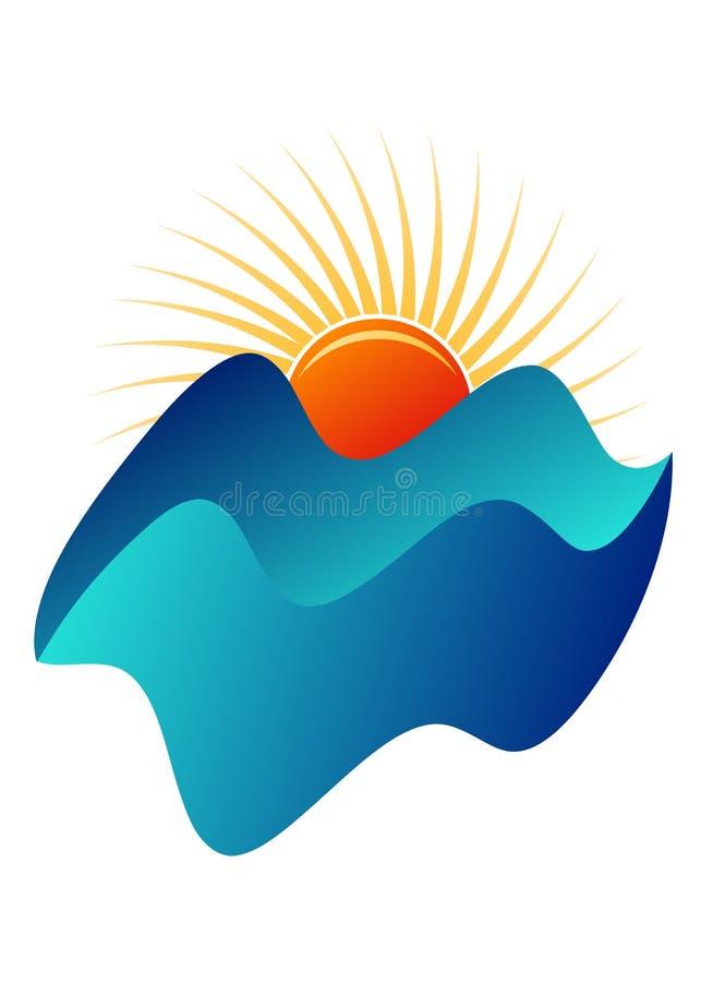Mountain logo. Illustration of mountain logo isolated on white background vector illustration