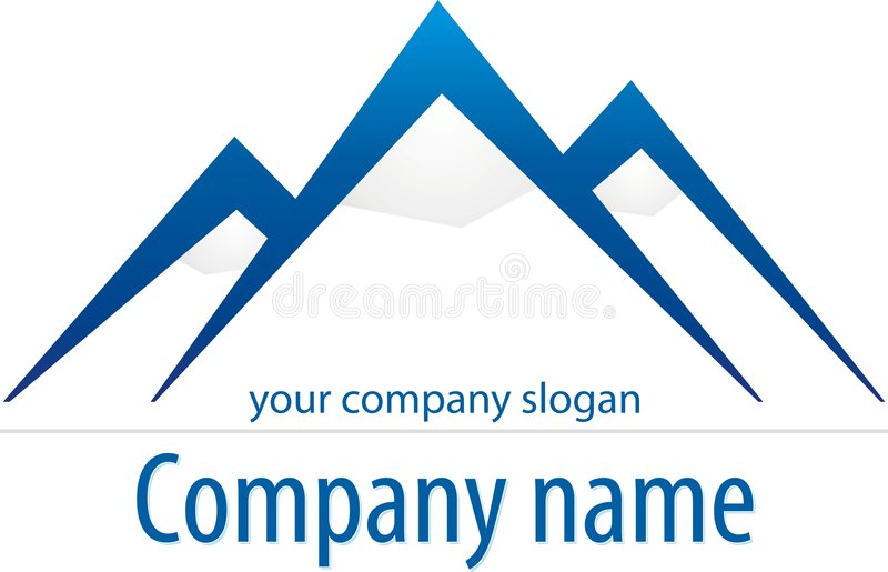 Mountain logo. Logo sample with mountains and snow