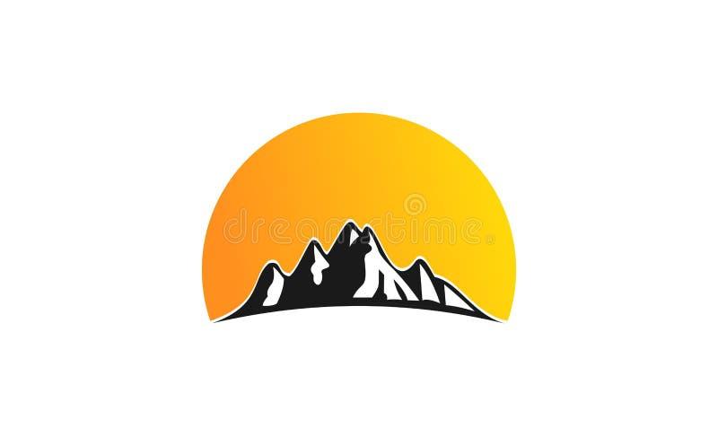Mountain logo design stock illustration